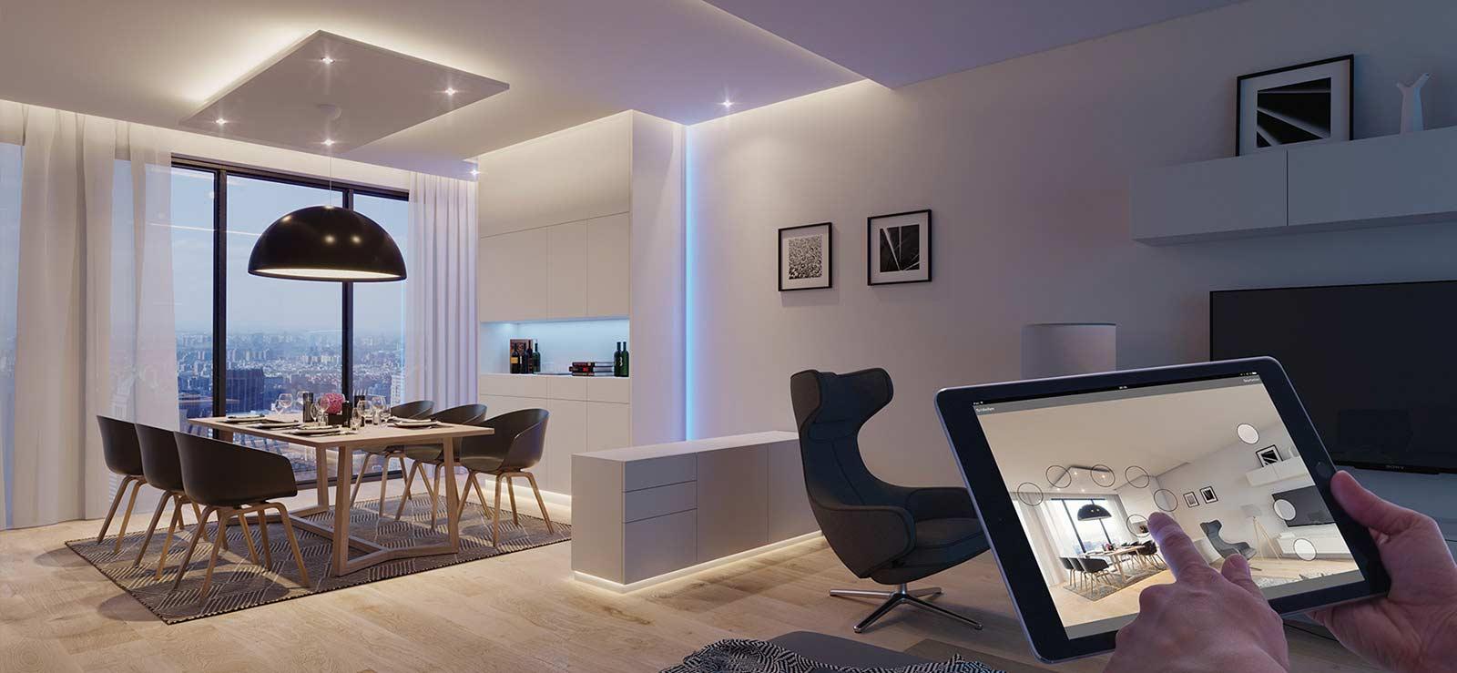 کنترل روشنایی خانه هوشمند لوکسین